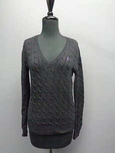 Ralph Lauren Sport Long Sleeved V Neck Stretchy Sma8305 Sweater