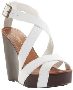 Ralph Lauren White Wedges