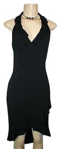 Rampage short dress Black Ruffle Trim High Low Ruffle Hem Halter Party Lbd on Tradesy