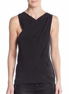 Ramy Brook Stretch Silk Becky Cross Over 220421dh Top Black