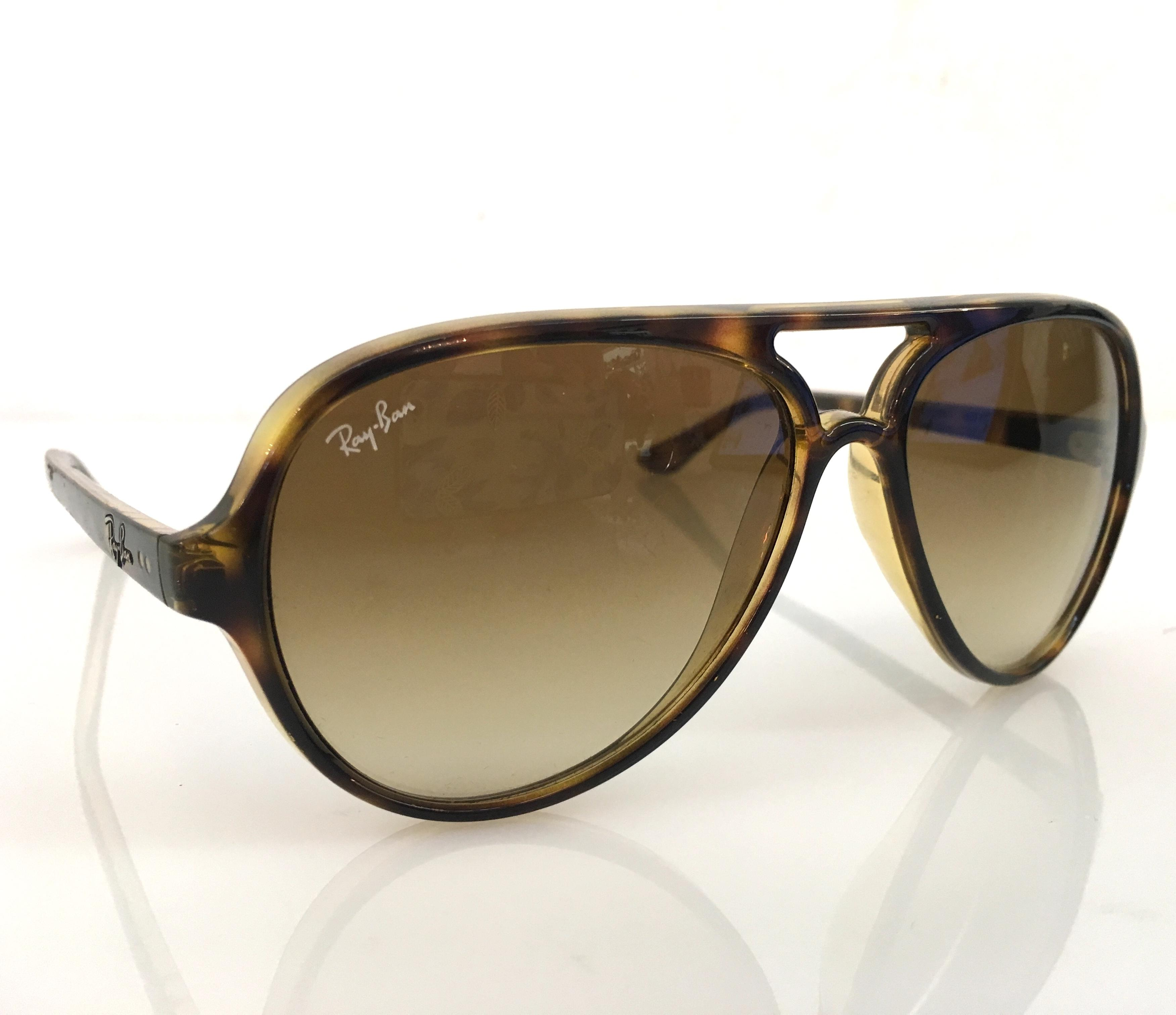 72dc53352d ... closeout ray ban brown tortoise aviator rb 4125 cats 5000 710 51 2n sunglasses  tradesy 77729