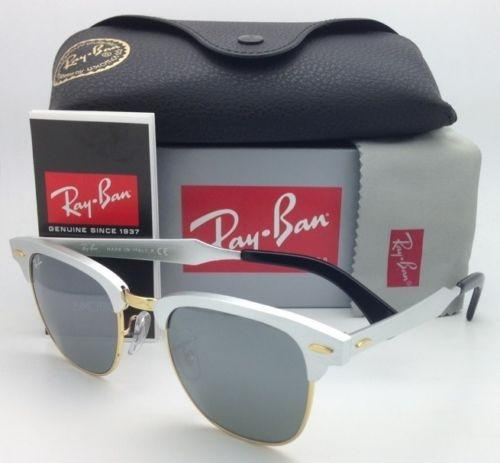 e30d137579 ... low cost ray ban clubmaster aluminum rb 3507 137 40 silver frame w grey mirror  new