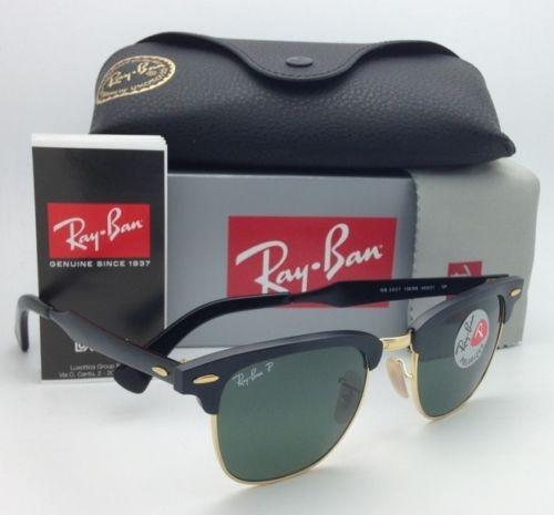 d7236af991 ... sale ray ban clubmaster rb 3507 136 n5 49 21 black gold w green  polarized 136