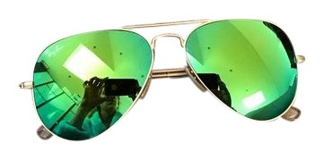 Ray Ban Green Mirrored Sunglasses