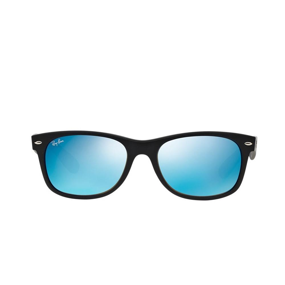 blue ray ban wayfarer sunglasses  ray ban new! junior new wayfarer sunglasses rj9052s, matte black/mirror blue