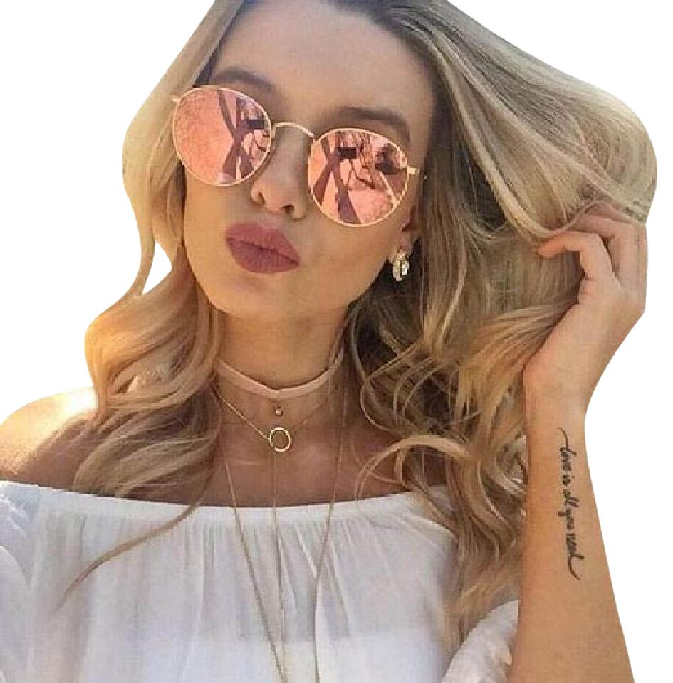 ray ban round copper