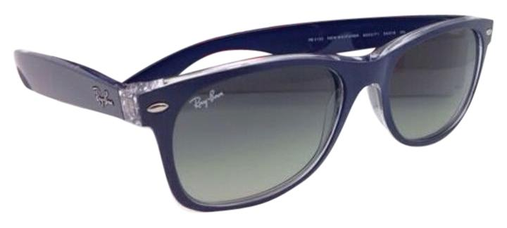 ca6235689e1 greece ray ban rb2132 new wayfarer sunglasses blue frame grey gradient lens  40bc8 6d97e