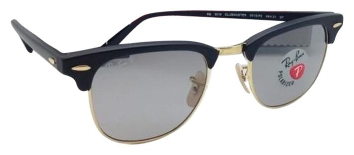 59657aaf488 ... discount ray ban polarized clubmaster ray ban sunglasses rb 3016 901s p2  black e37a2 5738e