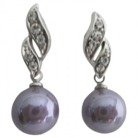 Purple Reasonable Low-priced Surgical Post Bridemaids Earrings