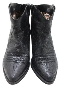 Reba 7.5 Ankle Leather Black Boots