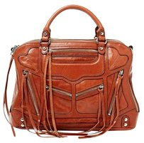 Rebecca Minkoff Leather Handbag Satchel in Luggage