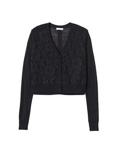 Rebecca Taylor Nwd Lace Front Cardigan 220516e Sweater