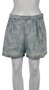 Rebecca Taylor Womens White Tie Dye Casual Shorts Blue