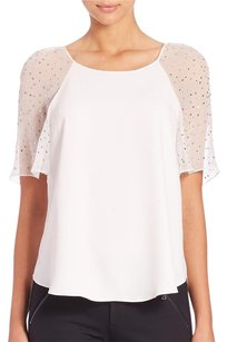 Rebecca Taylor Embellished Top Snow