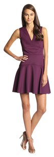 Rebecca Taylor Cocktail Formal Low V Neck Wedding Guest Party Dress