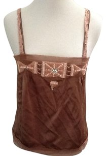 Rebecca Taylor Silk Chocolate Top Brown