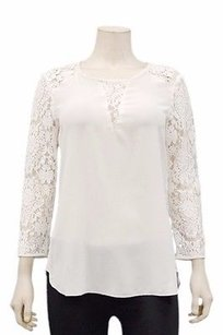 Rebecca Taylor Cream Jill Silk Lace 210094f Top Ivory