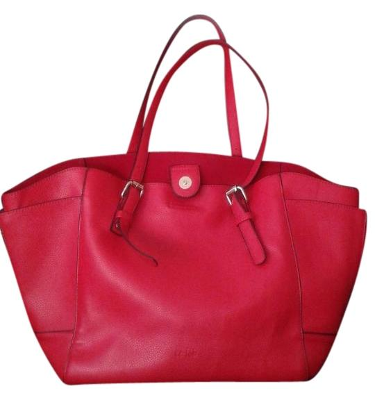 Red faux leather shoulderbag