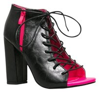 Red Kiss Girl Black Boots