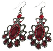 Red turquoise Red Turquoise Stones Dangle Earrings