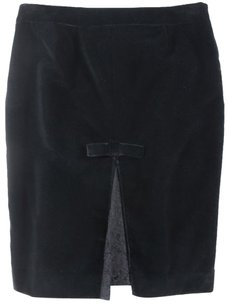 RED Valentino Straight Pencil Skirt Black