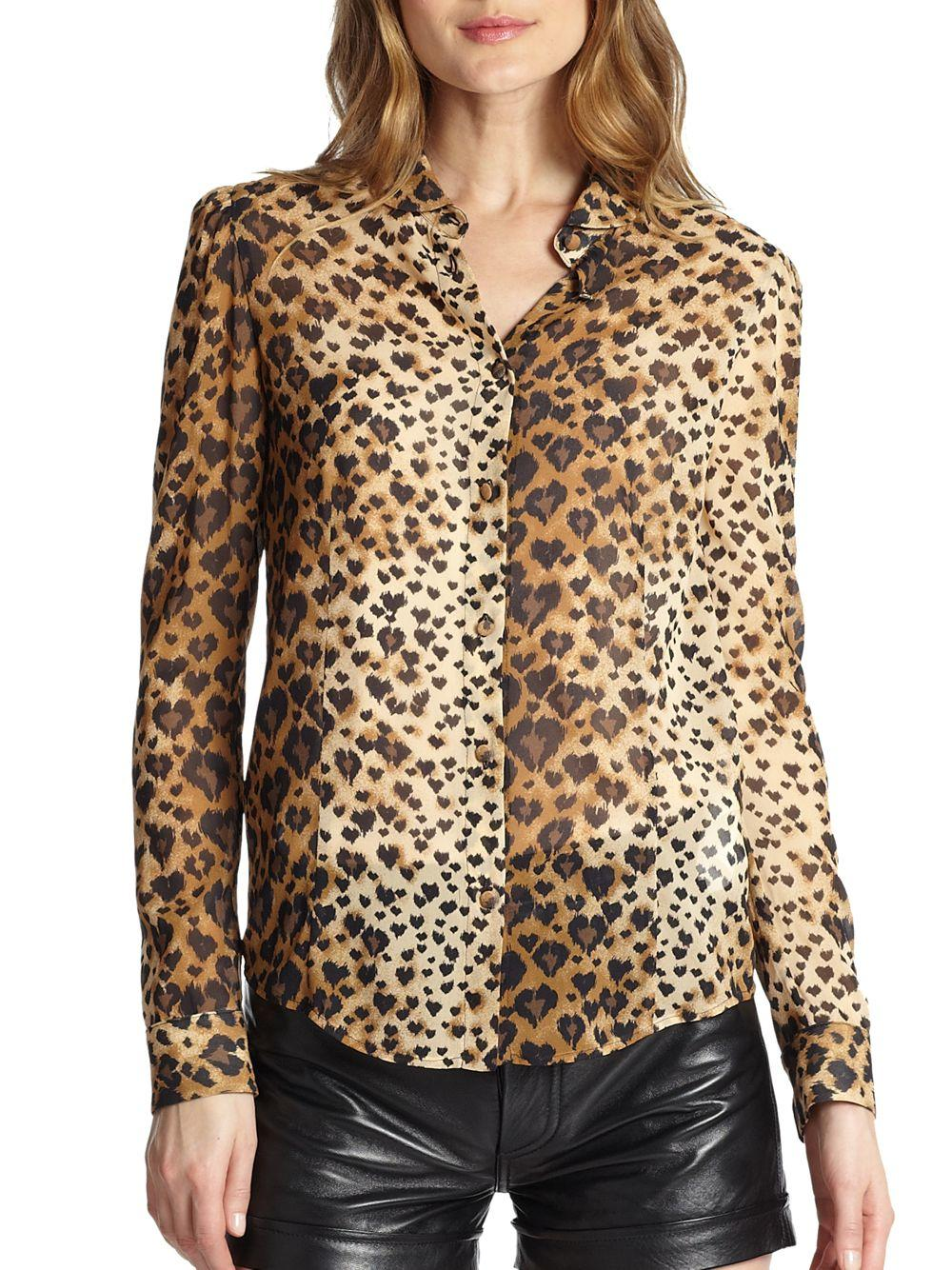 Discount Extremely Buy Cheap Countdown Package Animal-print silk blouse Valentino Outlet For Nice Clearance Free Shipping Yk5pk