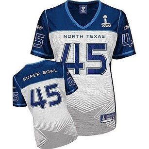 Reebok Reebok Womens Superbowl Replica Jersey Xlv North Texas Blue White