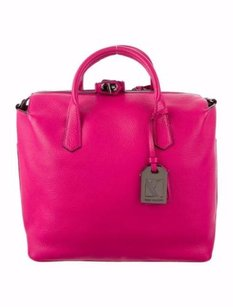 Reed Krakoff Magenta Gym I Leather Handbag Satchel in Pink