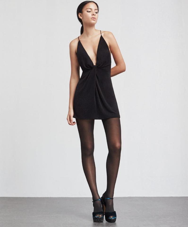 Reformation Black Holiday Collection Short Cocktail Dress Size 12 (L ...