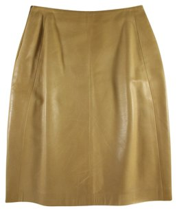 Regina Rubens 40 Lambskin Leather Pencil Lk Skirt