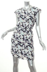 Reiss White Floral Print Pockets 8uk Dress