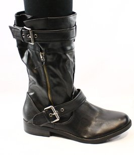 REPORT Fashion-mid-calf Leather New Without Tags 3536-0146 Boots