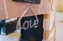 Rhinestone Hanging Love Sign
