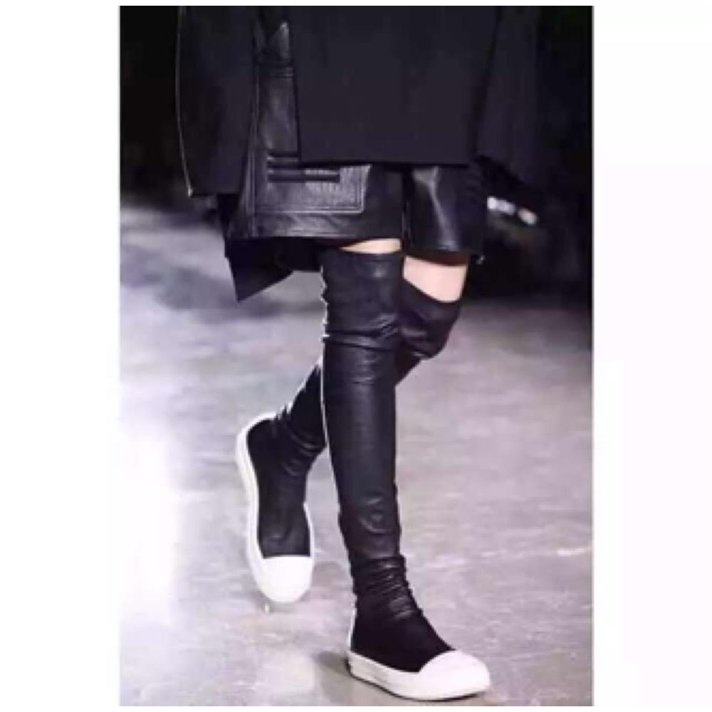 bootie high top sneakers - Black Rick Owens bGi05Y7QTS