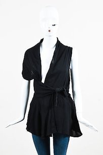 Rick Owens Silk Drape Top Black