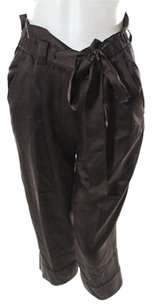 Robert Rodriguez Silk Slouchy Capri/Cropped Pants Brown