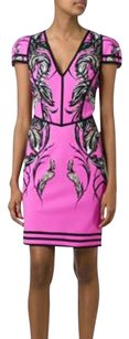 Roberto Cavalli 2016 Feather Print Nwot Dress