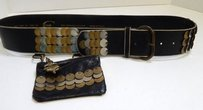 Roberto Cavalli Just Cavalli 95 Italy Wide Leather Belt W Pouch Belt