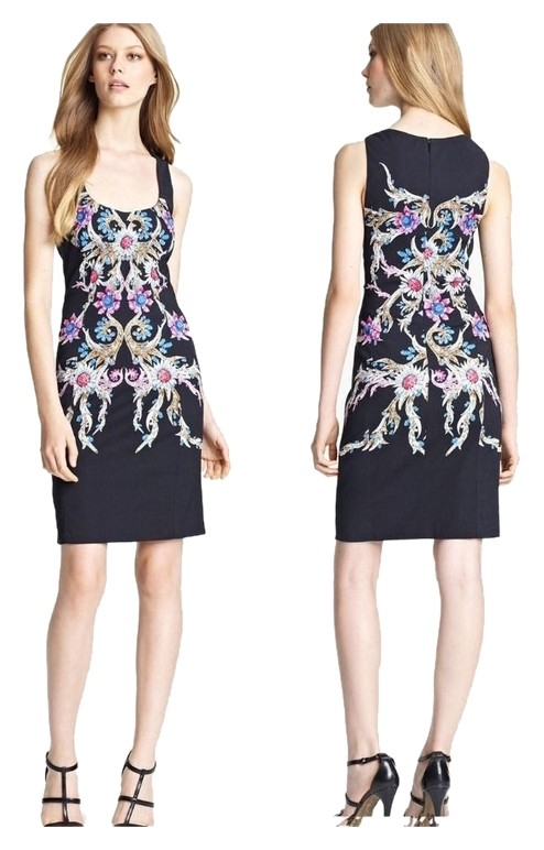 ROBERTO CAVALLI Multicolor Print Square Neck 38