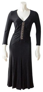 Roberto Cavalli Class Stretch Knit Long Sleeve Hs1605 Dress