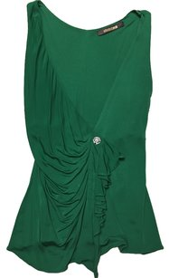 Roberto Cavalli Top Bright Emerald Green