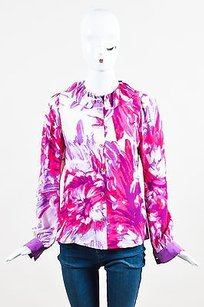 Roberto Cavalli Pink Purple Top Multi-Color