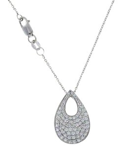 Roberto Coin Authentic Roberto Coin Diamond Pave 0.54 ct Teardrop Necklace