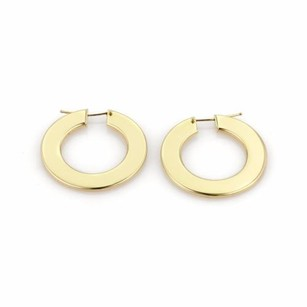 Roberto Coin Roberto Coin 18k Yellow Gold Flat Shape Round Hoop Earrings