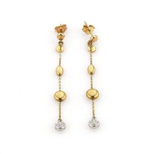 Roberto Coin Roberto Coin Diamond Classic 18k Two Tone Gold Bead Drop Dangle Earrings