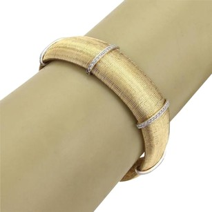 Roberto Coin Roberto Coin Diamonds 15mm Wide Flex Band Bracelet In 18k Two Tone Gold
