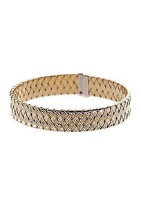 Roberto Coin Roberto Coin Sterling Silver The Fifth Collection Flat Bangle Bracelet