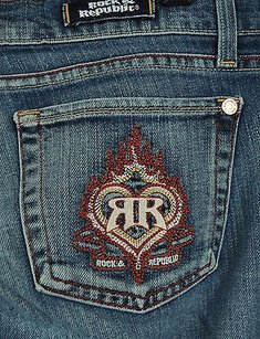 Rock & Republic Jagger Flaming Vicodine Blue 27 Usa 000515 Boot Cut Jeans