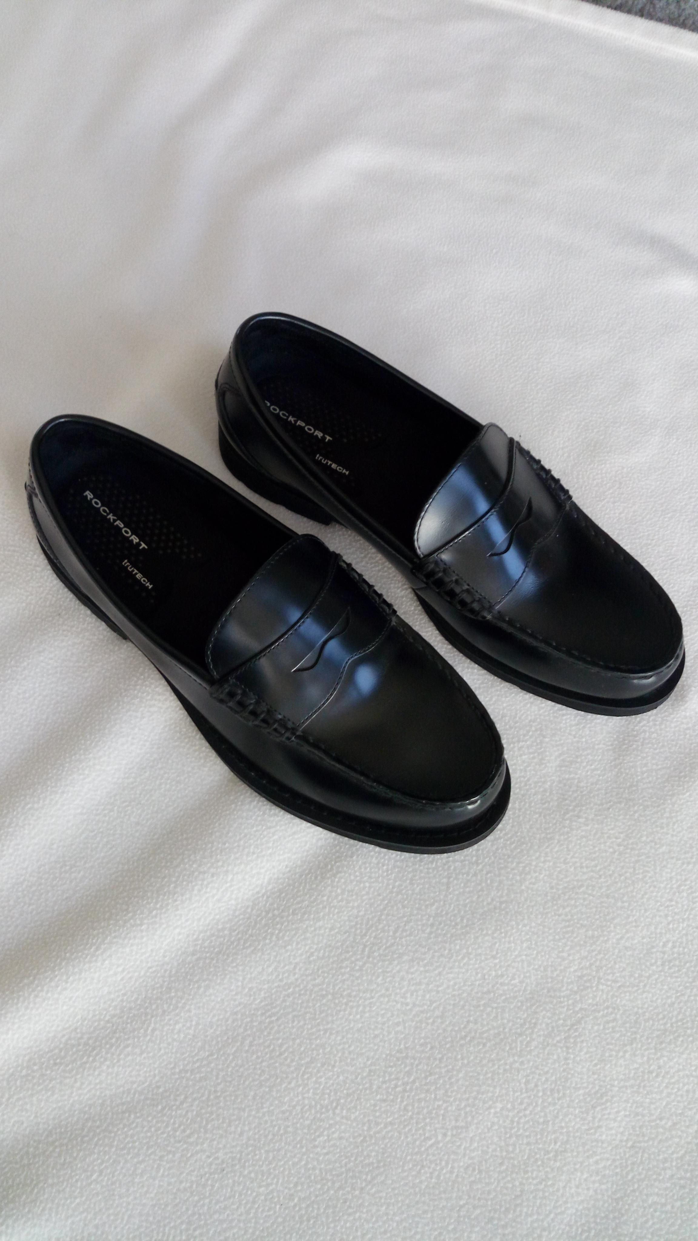 Shoes Leather By Adidas Black Penny Tradesy Loafers Rockport QWrxeoCdB