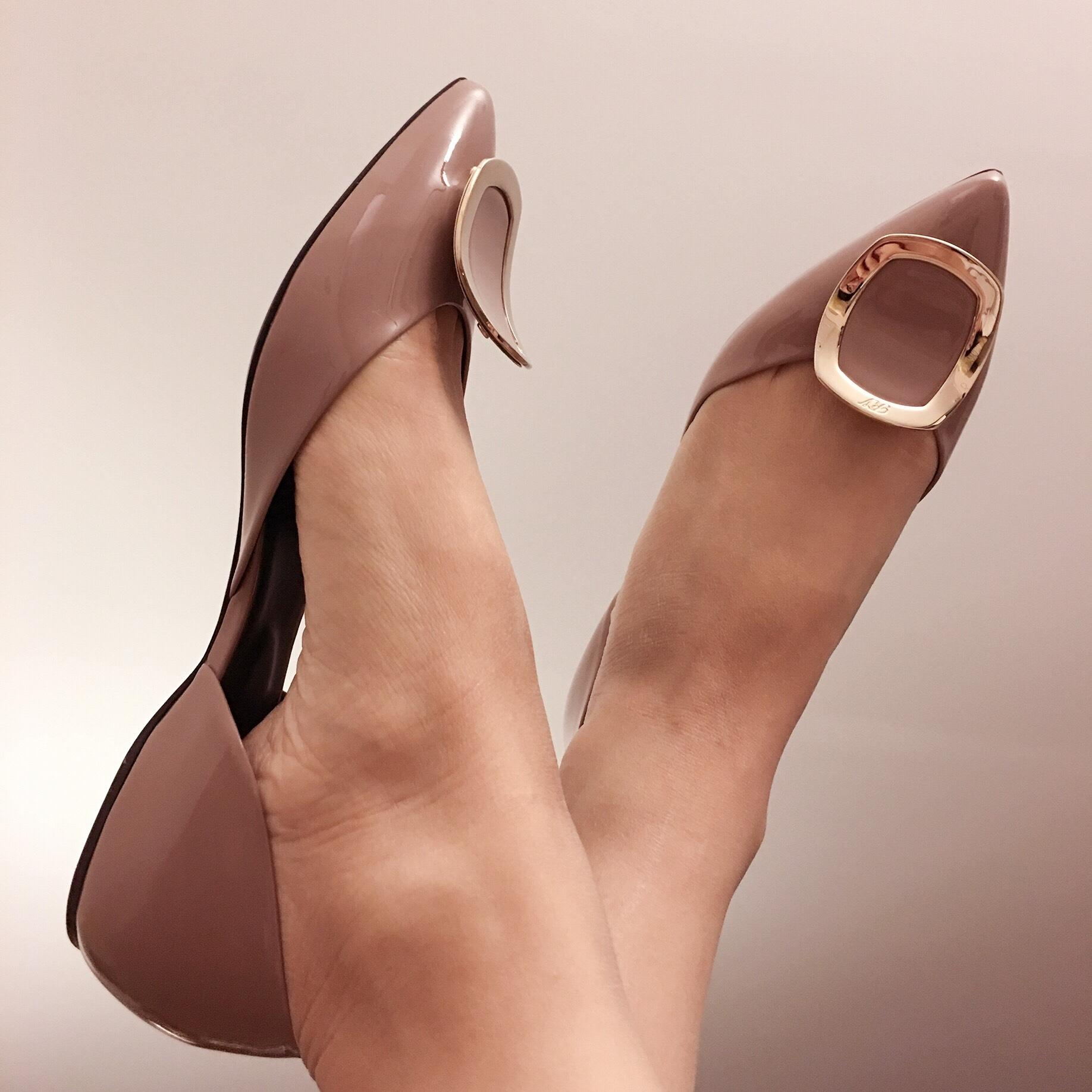 Roger Vivier Chips d'Orsay leather ballerinas KCYKzZVN